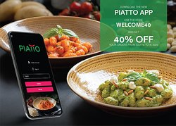 Download our new app and get 40% discount when you order using the code welcome40 https://www.alfaco.com.sa/apps/piattoksaapp.aspx