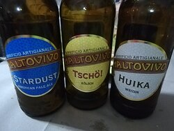 Le tre birre assaggiate.