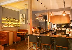 The Olive's open kitchen