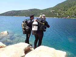 Diving in Skyros.