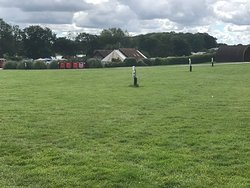 Large field . Grass on the field was a bit long but the day we was leaving he was cutting the grass around the site