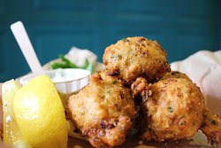 Conch and Corn Fritters