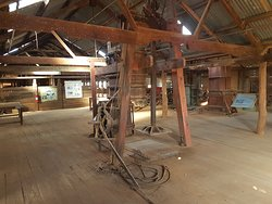 Inside the historic woolshed