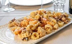 frittura di pesce  Ristorante La Puraza Rimini