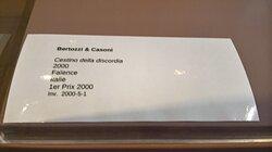 Musée de La Céramique et Magnelli. Vue 54. Cartel de Cestino Della Discordia 2000 BERTOZZI & CASONI. Juillet 2020.