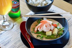 Thai red curry with prawn