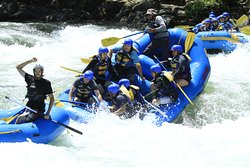 In the thick of the rapids, our guide Ivan from Peru was amazing and funny!