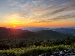 Sunrise from Sugarlands Overlook July 25, 2020