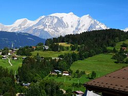 The view from our hotel to Mont Blanc