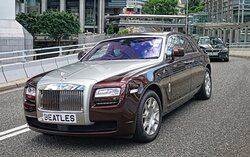The streets of Hong Kong, great number plate on a Rolls Royce