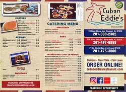 Menu - current as of July 2020