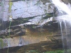 Rappelling the Big Bradley Falls