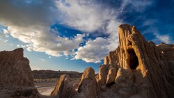 A beautiful Nevada sunset at Cathedral Gorge State Park.