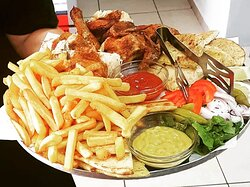 Chicken with fries