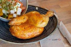 Neben Schnitzel und Wurst auch im Angebot: Hähnchen