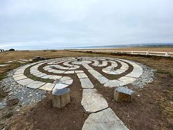 newest addition to the grounds -- a lovely stone labyrinth