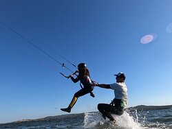 Children Kite Course in Punta Trettu Sardinia
