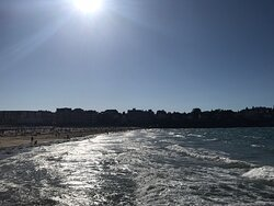 La très grande plage de Dinard