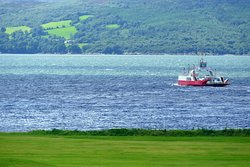 The Buncrana/Rathmullan Ferry is a five-minute drive (15-minute walk) away - and its activities could be seen from our room window. First sailing around 10 am.