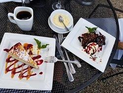 Cheesecake and Hot Fudge Brownie