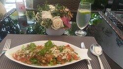 Spicy Salmon Salad.