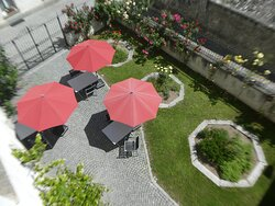a garden by the 'dependence' for guest's use