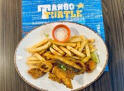 Guyana fried seafood
