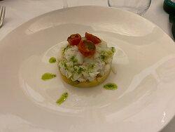Insalatina di Baccala' con patate al sale e pomodorini confit