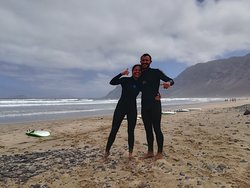 Surfing in Lanzarote!!!