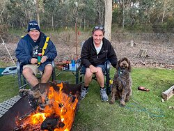 Campfires are allowed  Park is pet friendly We have two pet friendly cabins also.