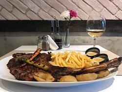 Tomahawk steak.  A meatlover's dream!