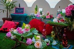 Bohemian Cabana CandlelightDinner on Rooftop Garden