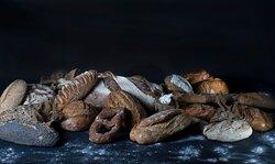 Une partie de notre large gamme des pains Bio.