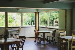 Inside the newly refurbished Dovecote Café