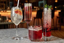 A selection of il Pamperous delicious and inventive signature cocktails