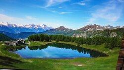 Il piccolo lago di Lod a 2025 mt.