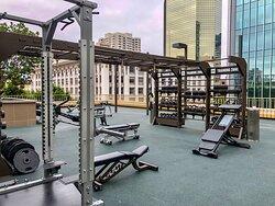 Rooftop Outdoor Fitness Area