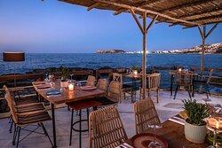 Seaside venue, romantic atmosphere.