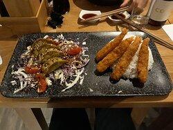 Raviolis et tempuras