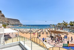 Terrace views  - Mogan Beachfront Apartment V&L - VillaGranCanaria
