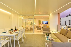 Outdoor dining area/Terrace  - Mogan Beachfront Apartment V&L - VillaGranCanaria
