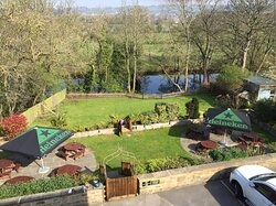 Our three tier Beer Garden over looking the river.