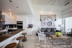 Open living and dining area at the residences.