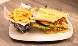 Legends BLT Sandwiches ,  Applewood smoke bacon, romaine, tomato, avocado and mayo.