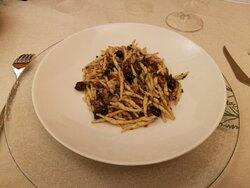 Trofie con polpo e olive taggiasche