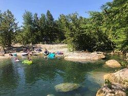 Enjoy the deep water...maybe make a rock stack...float...splash around... Enjoy.