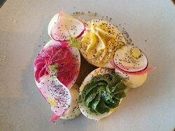 Oeufs mimosa en couleur