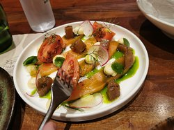 Cured salmon-based dish. Norwegian me used to great salmon says yes!