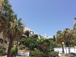 #beach #playa #restaurantes #bar #palmtrees #view #placestovisit #espana #spain #nerja #malaga #andalucia #spain