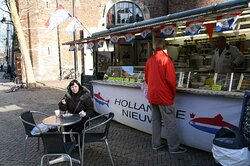 Hollandse Nieuwe haring kraam